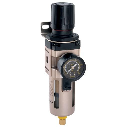 DRX8093 Air Filter Regulator Assy Incl: Gauge & Bracket 1/4 Ports Ref FM3002W Image