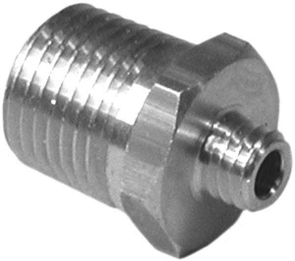 DRX6156 Adapter connector - 1/8 MPT x 10-32 Male -Brass construction ( Picture not shown in Brass) Image